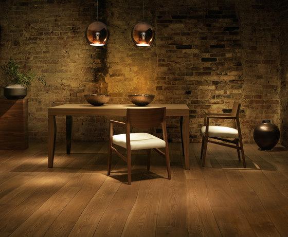 Select Oak brushed parquet by Bolefloor | Wood flooring