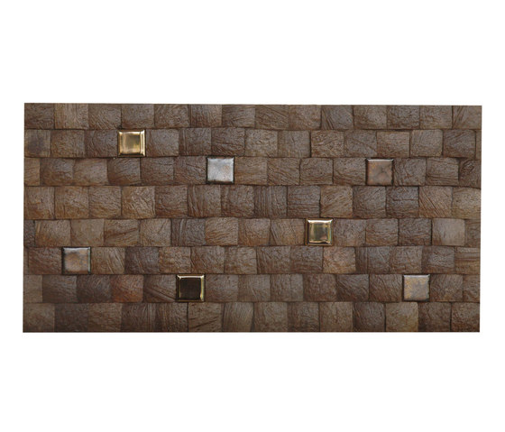 Cocomosaic tiles espresso grain with ceramic by Cocomosaic | Wall mosaics