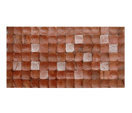 Cocomosaic tiles brown bliss with square white stamp by Cocomosaic | Wall mosaics