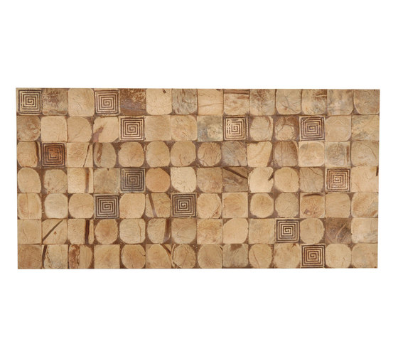 Cocomosaic tiles natural bliss with square brown stamp by Cocomosaic | Wall mosaics