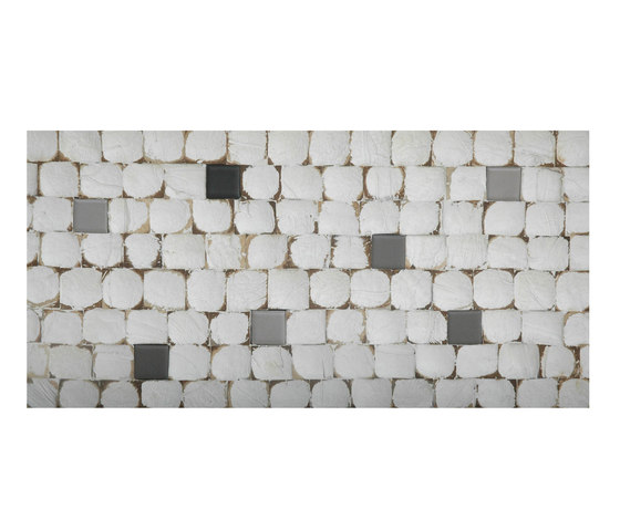 Cocomosaic all tiles white patina with ceramic mix 102 by Cocomosaic | Coconut mosaics