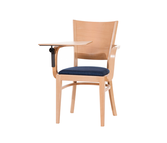 Norma chair with writing table by TON | Multipurpose chairs