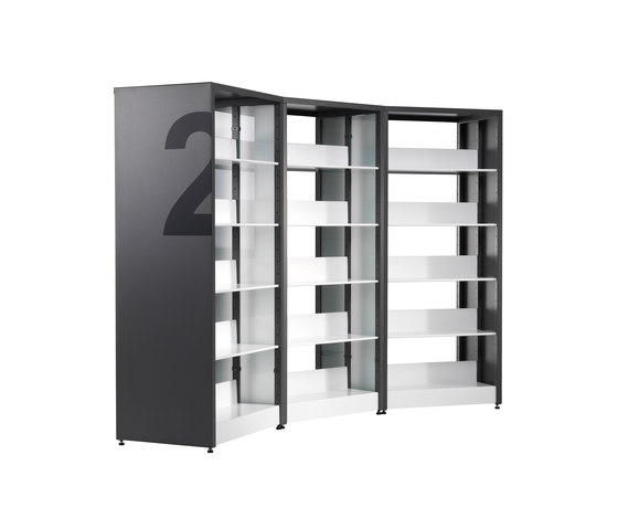 Littbus Framed by Lustrum | Library shelving systems
