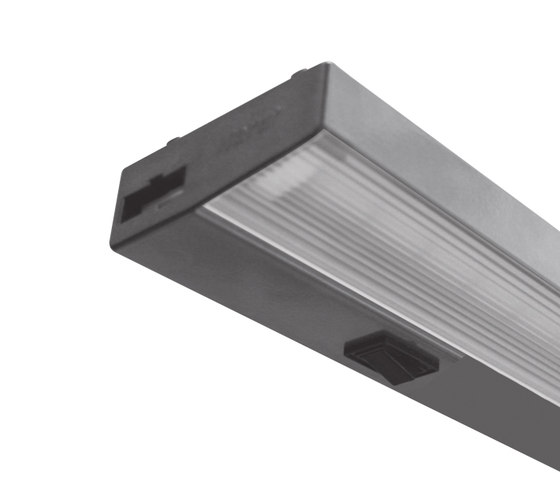 MK 2-LED - Flat Under-Cabinet Luminaire for 230V by Hera | LED-lights