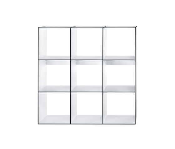 HP 9 Library 3x3 by Hansen | Office shelving systems