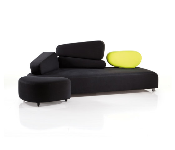 mosspink Seatingscape with stool di Brühl | Divani lounge