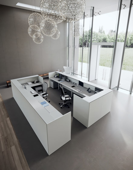 DV703-Qubo 02 by DVO | Reception desks