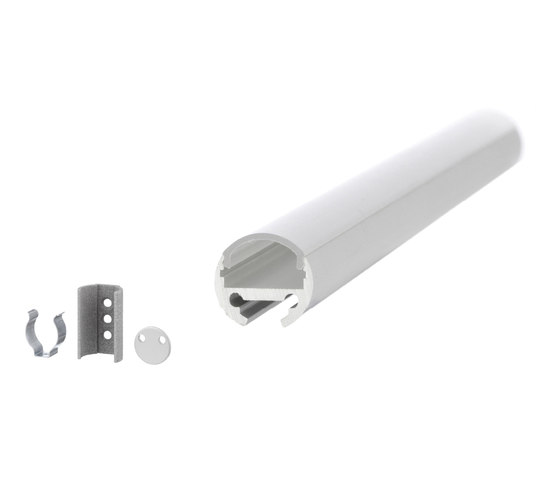 Aluminium Profiles 16.0 mm round by UNEX | LED wall-mounted lights