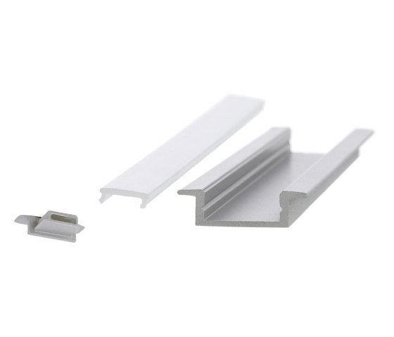 Aluminium Profiles 17.5 x 7.0 mm with collar by UNEX | LED wall-mounted lights