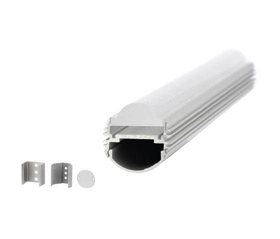 Aluminium Profiles 26.0 mm round by UNEX | LED wall-mounted lights
