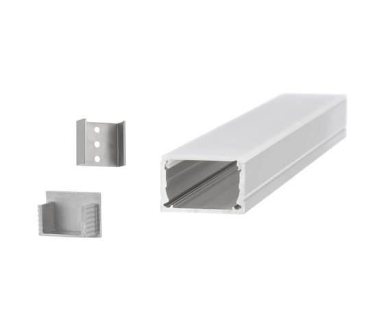 Aluminium Profiles 30.0 x 18.0 mm by UNEX | LED wall-mounted lights