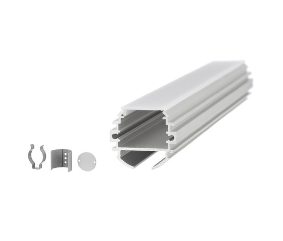 Aluminium Profiles 30.0 mm round by UNEX | LED wall-mounted lights