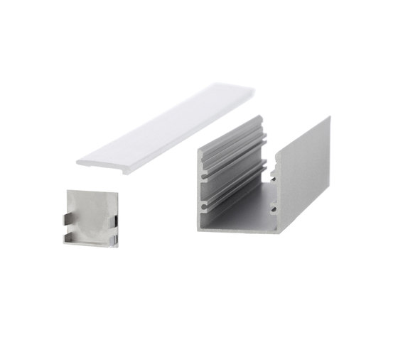 Aluminium Profiles 30.0 x 30.0 mm by UNEX | LED wall-mounted lights