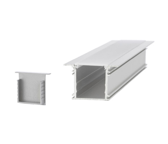 Aluminium Profiles 34.0 x 31.5 mm with collar by UNEX | LED wall-mounted lights