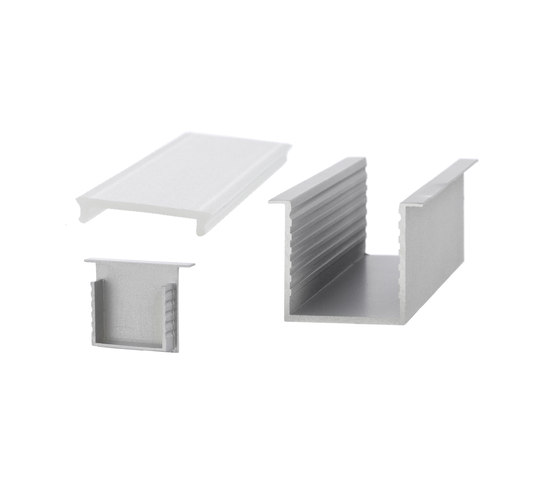 Aluminium Profiles 35.0 x 35.0 mm with collar by UNEX | LED wall-mounted lights