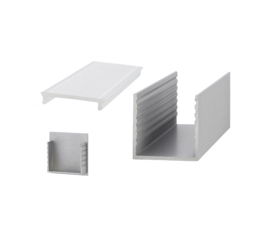 Aluminium Profiles 35.0 x 35.0 mm by UNEX | LED wall-mounted lights