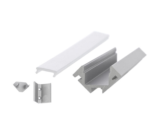Aluminium Profiles 45° Corner profile by UNEX | LED wall-mounted lights