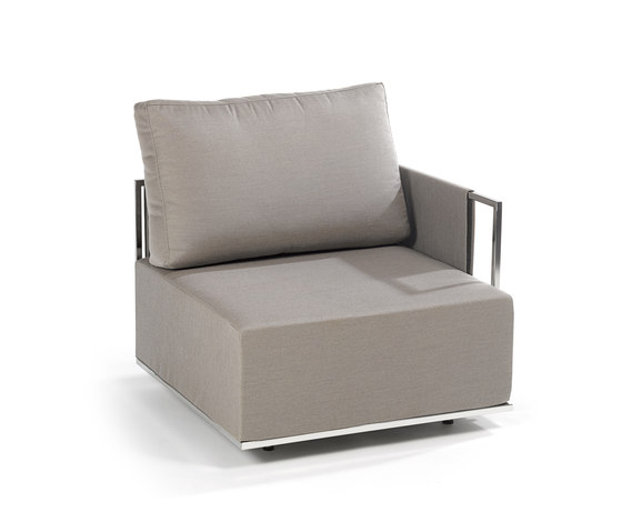 Suite corner module by Fischer Möbel | Garden armchairs