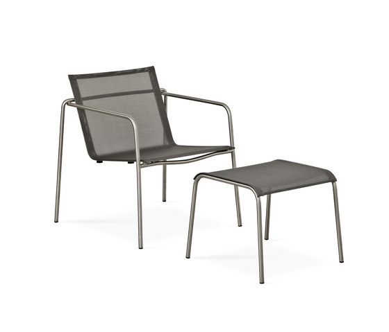 Taku lounge chair with footrest by Fischer Möbel | Armchairs