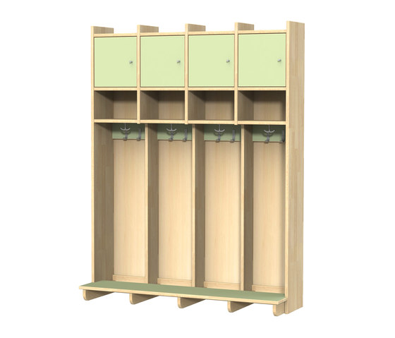 Wardrobe for children N1300-4 by Woodi | Cloakrooms