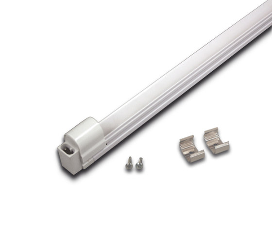 Basic Line - Compact luminaire with aluminium casing for T5 Lamp by Hera | Linear lights