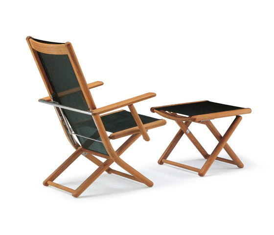Tennis armchair adjustable with footrest by Fischer Möbel | Garden armchairs