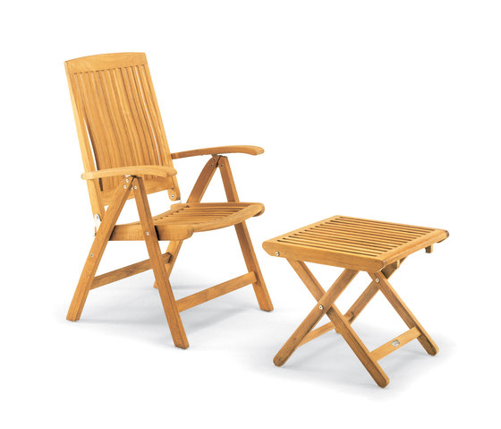 Burma armchair adjustable with footrest by Fischer Möbel | Garden armchairs