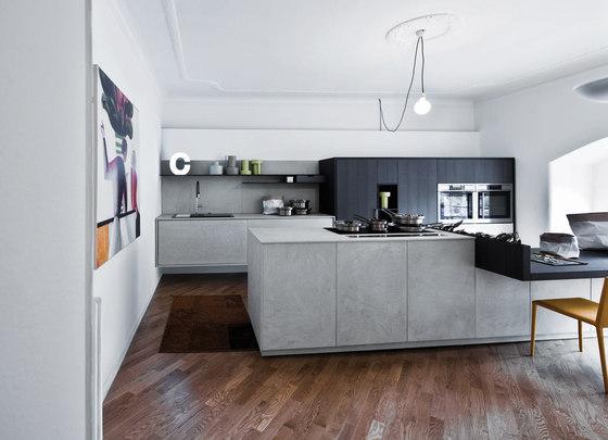 Kalea | Composizione 10 di Cesar Arredamenti | Cucine a parete