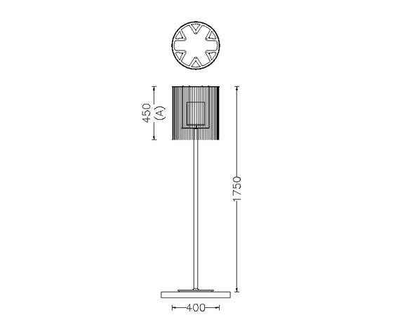 Circular Cropped 400 Standing Lamp by Willowlamp | Free-standing lights