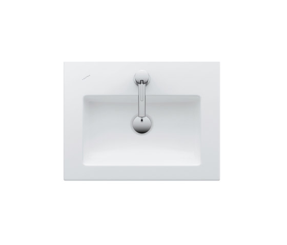 living square | Countertop Drop-in washbasin de Laufen | Lavabos