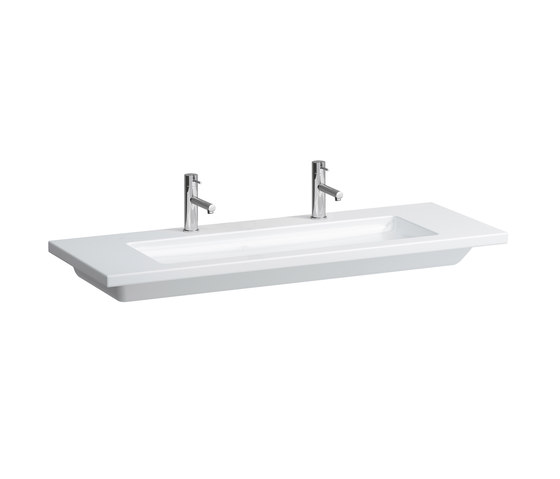 living square | Countertop double washbasin by Laufen | Wash basins