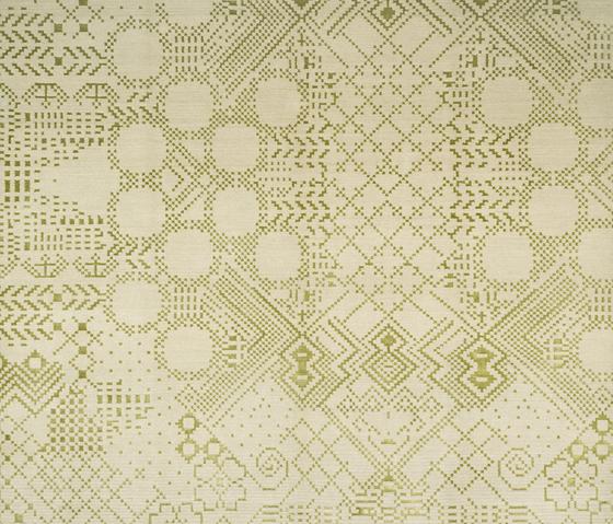 Squaredance - Squaredance green by REUBER HENNING | Rugs / Designer rugs