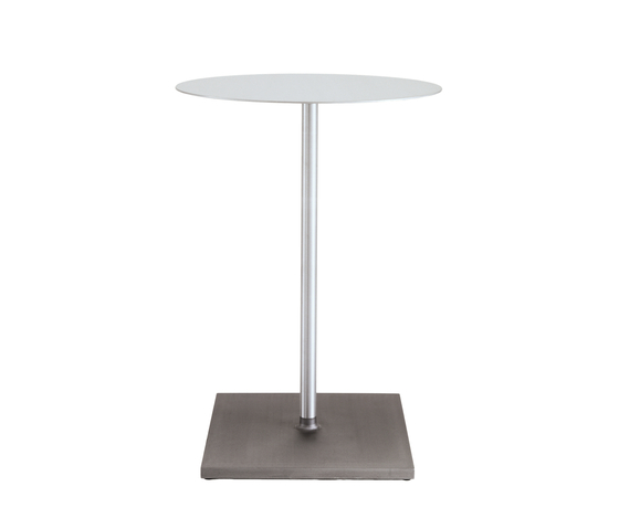 Round Brushed café table de emeco | Mesas altas