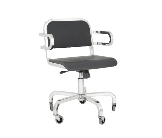 Nine-0™ Swivel armchair di emeco | Sedie girevoli da lavoro