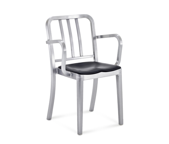 Heritage Stacking armchair seat pad by emeco | Restaurant chairs