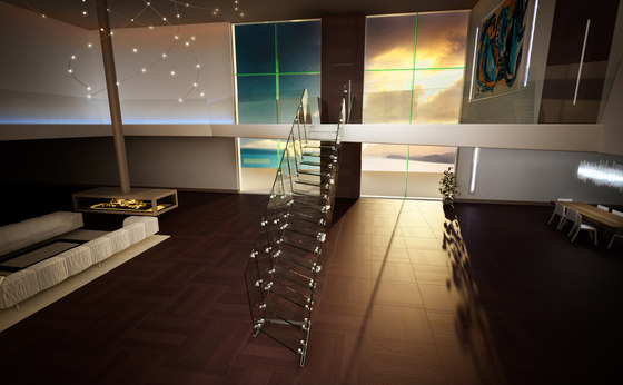 Rio by Siller Treppen | Glass stairs