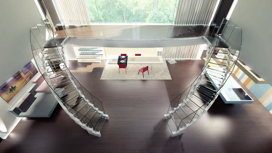 Cobra glass by Siller Treppen | Glass stairs