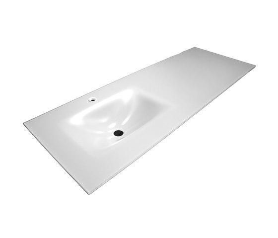 Bowl shaped inset basin worktop by CODIS BATH | Wash basins