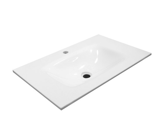 Bowl shaped inset basin worktop by CODIS BATH | Wash basins