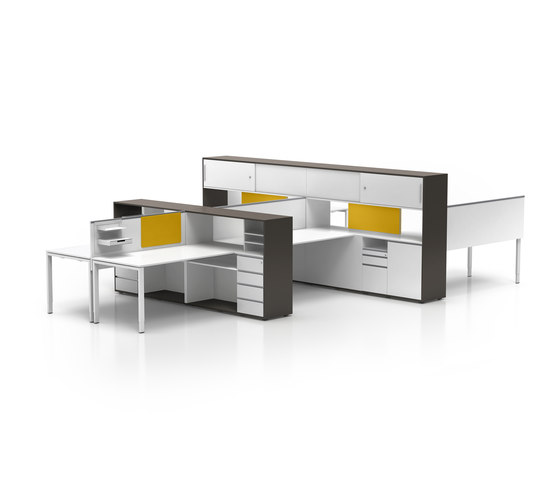 Cube_S | Bridge Spine Kombi workstation von Bene | Tischsysteme