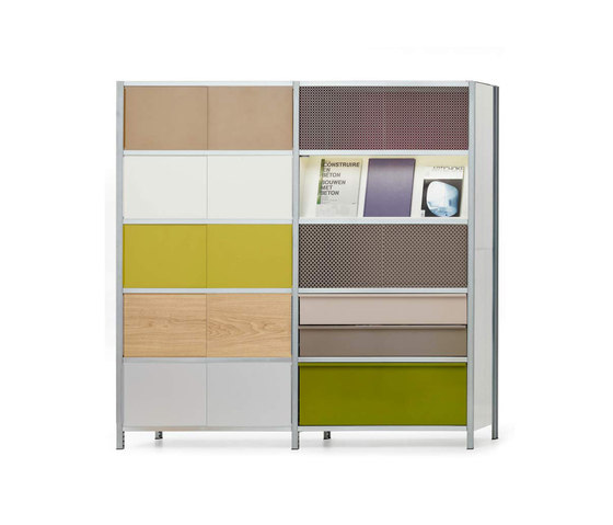 mf-system | Shelf with sliding doors by mf-system | Office shelving systems