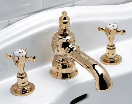Antique Grupo grifones lavabo 3 huecos de Devon&Devon   Grifería para lavabos