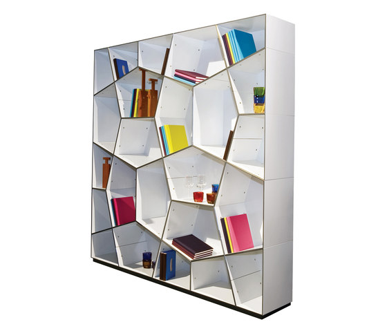 Pattern bookcases by Quodes | Room dividers
