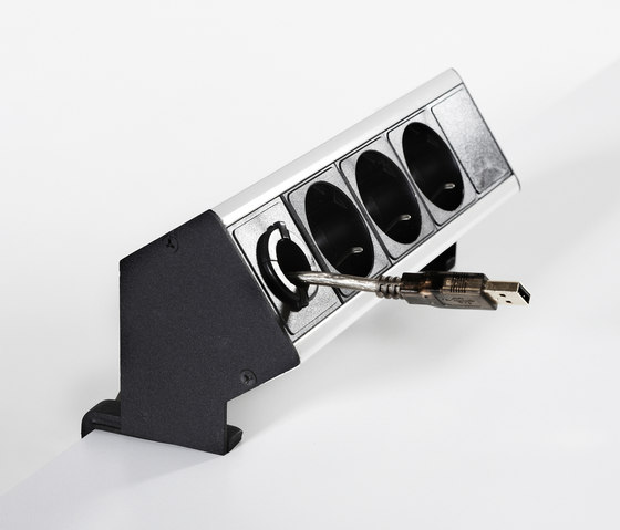 Concept Flex Power connectors by Swedstyle   Table integrated systems