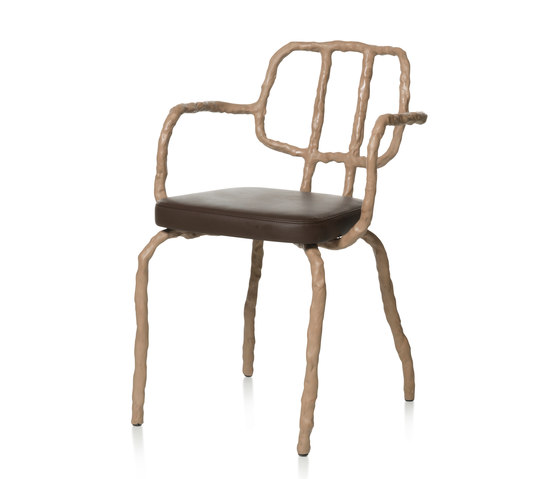 Plain Clay Dining Chair with arm by DHPH | Chairs