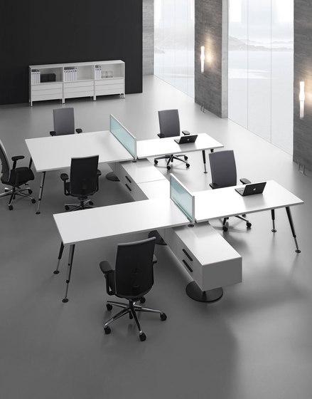 Dinamico système de bureaux de ARLEX design | Systèmes de tables de bureau