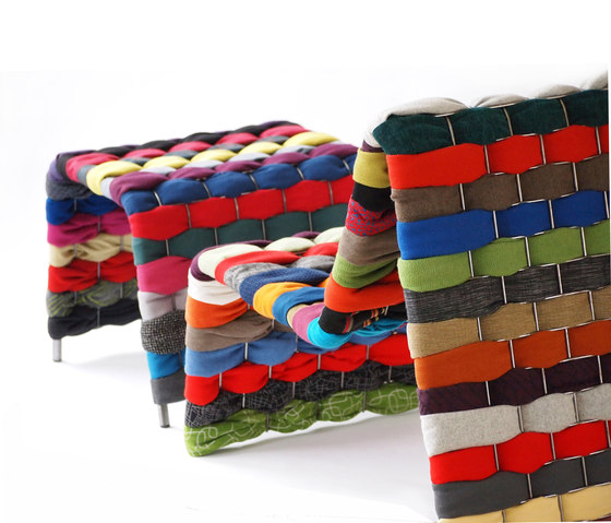T-Shirt Series Chair Footstool by Green Furniture Concept | Lounge chairs