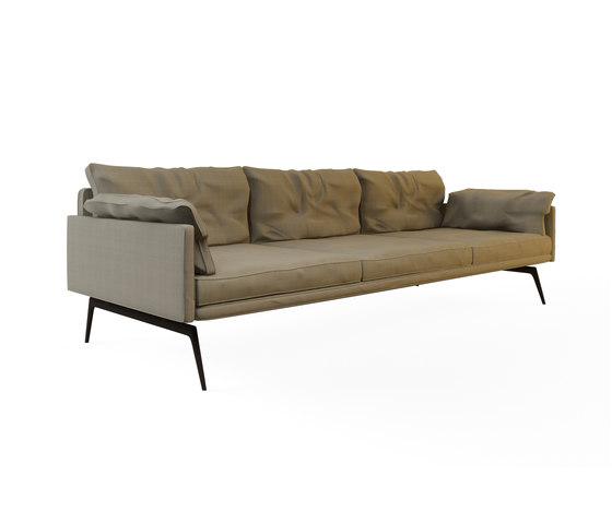 Tan Triple Sofa by Nurus | Lounge sofas