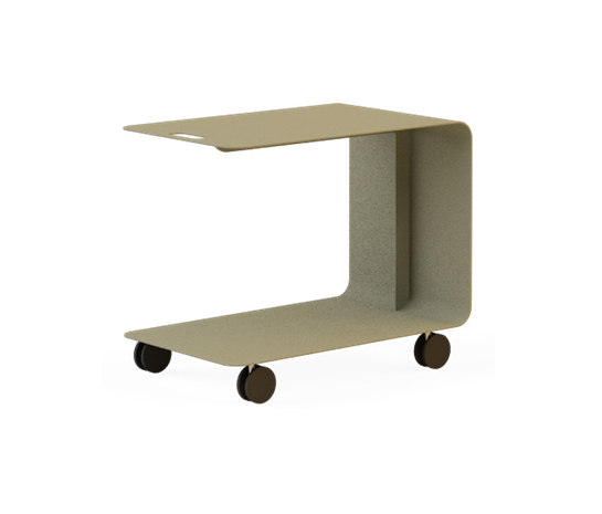 Drop 40x65 Service Coffee Table with Castors by Nurus | Lounge tables