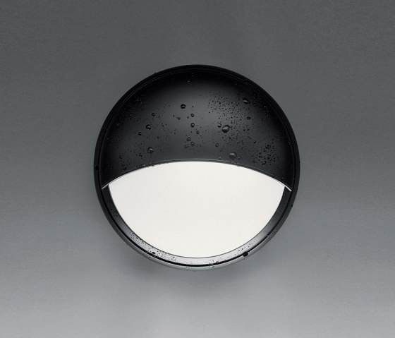 Pantarei 190 Half-light screen black by Artemide Architectural | Outdoor wall lights